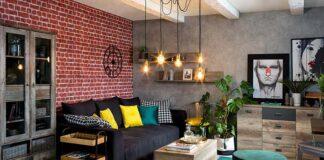 Jakie meble i dodatki dobrać do ceglanych ścian